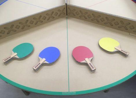 段ボール卓球台